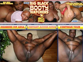 Welcome to Big Black Booty Watchers! Big black juggs! 100% exclusive big black models!