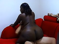 Black BBW satisfies a cock with her twat