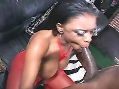 Adorable chocolate BBW knows sense in fucking black chubby movies