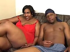 Black plumper deep throats strong chococlate cock