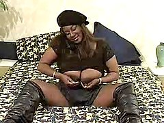 Appetizing black fatty goes naughty black chubby movies