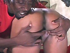Horny plump black vixen loves big peckers