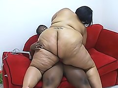 Ebony fatties give each other hot orgasms