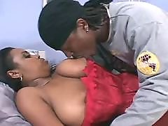 Black BBW angel takes up huge hummer