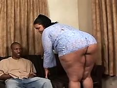 Appetizing titty ebony fatty takes a ride black chubby movies