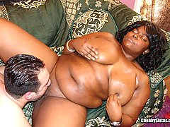 Big Titted Black Chick's Pussy Fucked