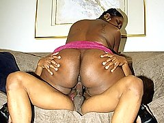 Sexy Ebony BBW Enjoying Big Dick